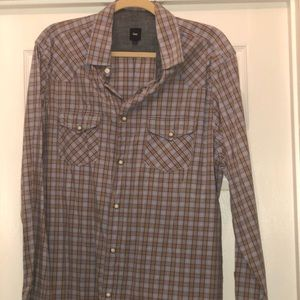 Men's Gap Button Up Shirt Sz L